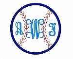Applique Baseball Monogram No.2 Frame